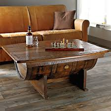 livingroom table sets furniture wooden barrel coffee table for rustic living room