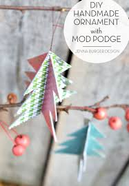 mod podge diy ornament burger