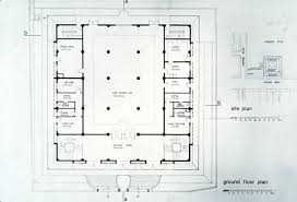 floor plan of mosque kowloon mosque b w drawing ground floor plan archnet