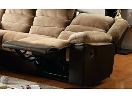 Chaise Lounge Leather Two Tone Sectional Sofa One Reclining Seat Chaise Lounge Leather