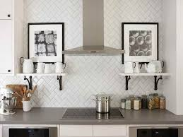 Modern Kitchen Backsplash With Design Subway Tiles Kitchen - Contemporary backsplash