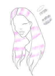 how to draw shiny hair i draw fashion