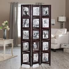 memories photo frame room divider black 4 panel hayneedle