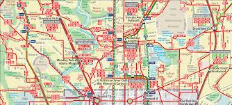 washington dc metrobus map popular 236 list dc map