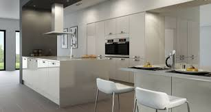 grey kitchen cabinets wall colour silver gas oven range white