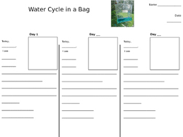 water cycle in a bag worksheet by loren dietrich tpt