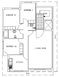 floor plan of the apartment of the case study figure 1 of 3