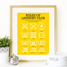 Laundry Room Art Decor by Kitchen Laundry Club Poster Art With Laundry Symbols Explained
