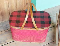 vintage picnic basket beyond the picket fence upcycle a vintage picnic basket