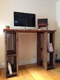 Diy Wood Computer Desk by How To Make A Standing Desk Minimalist Desks And Woodworking