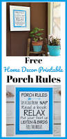 free porch rules home decor printable pretty blue wall art
