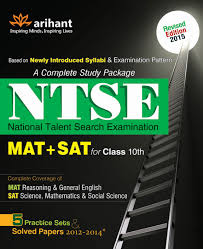 ntse mat sat for class 10th a complete study guide package