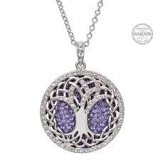 all swarovski crystal necklace images Silver tree of life necklace swarovski sw38 jpg