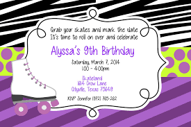 Rolling Wedding Invitation Cards Roller Skating Birthday Party Invitations Theruntime Com