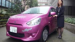 mitsubishi pink mitsubishi mirage hello kitty special edition announced for japan