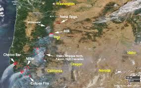 a map of oregon fires satellite photo of oregon wildfires august 19 2017 wildfire today