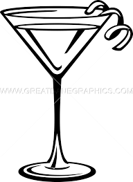 martini transparent martini glass drink production ready artwork for t shirt printing