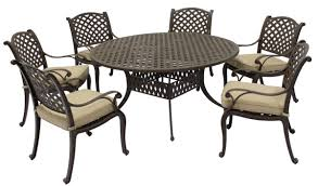 Table And Chair Sets Patio Patio Table And Chair Set Black And Cream Rectangle Modern