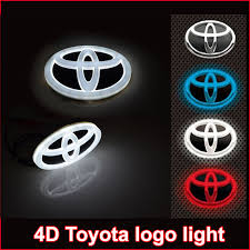 toyota old logo new car 4d led emblem badge sticker lamp for toyota rav4 reiz