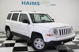 patriot jeep used 2016 used jeep patriot fwd 4dr sport at haims motors serving fort