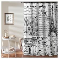 Black And White Curtain Designs Paris France Shower Curtain 70