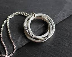 name necklace rings images Linked rings etsy jpg