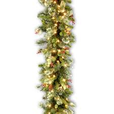 Garland With Lights Beautiful Idea Garland With Lights For Stairs Mantle Uk