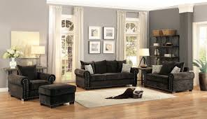Chenille Living Room Furniture by Homelegance Wandal Sofa Set Chenille Chocolate 8488cn Sofa Set