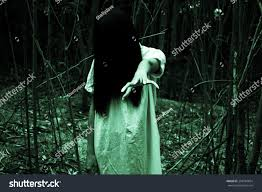 halloween forest background ghost serieshalloween horror concept background stock photo