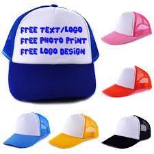 custom personalized logo or text cap heat transfer printing