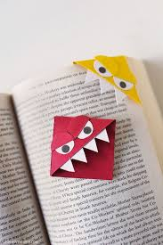 monster page of halloween projects 25 best corner bookmarks ideas on pinterest diy bookmarks