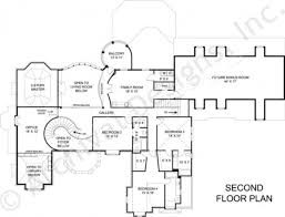 Second Story Floor Plans by Saint Augustine European House Plan Luxury House Plan