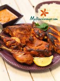 cuisine hindou cuisine indienne poulet tandoori et sa sauce épicée cuisine