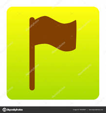 Green White And Yellow Flag Flag Sign Illustration Vector Brown Icon At Green Yellow