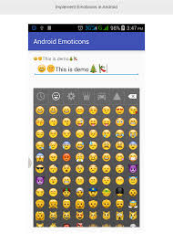 android smileys how to integrate emoticons using emojicon library in android