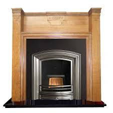 antique oak wood art deco mantel fireplace surround salvoweb com