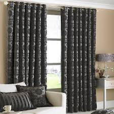 Black And Silver Curtains Black And Silver Jacquard Curtains Functionalities Net