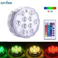 submersible led lights wholesale szvfun waterproof pool light battery operated underwater lights