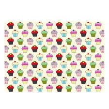 high wrapping paper high quality multi coloured cupcake design gift wrapping paper size