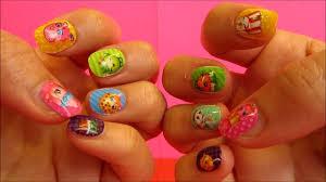 shopkins beautiful nail art press on nails and nail file youtube