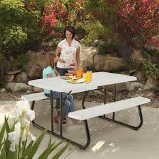 Lifetime Folding Picnic Table Assembly Instructions by Lifetime 5 U0027 Folding Picnic Patio Table At Menards
