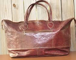 Rugged Purses Vintage Leather Tote Etsy