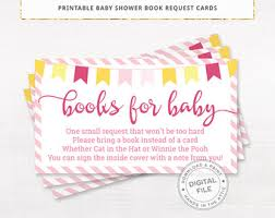 Books Instead Of Cards For Baby Shower Poem Request A Book