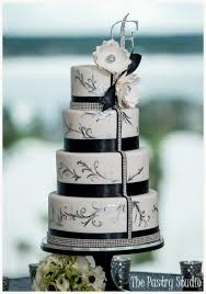 black and white wedding cakes a black and white glamorous wedding cake by the pastry studio