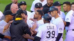 Red Sox Yankees Benches Clear Pirates Rox Benches Clear After Tight Pitch Mlb Com