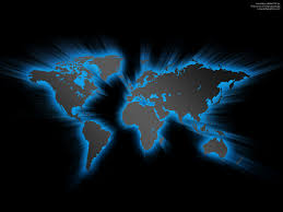 Blank Color World Map by Blue Glowing World Map Psdgraphics