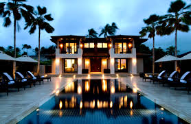 swimming pool bungalow s with for entertaining modern plans and