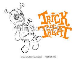 spooky voodoo doll sketch style handdrawn stock vector 150489935
