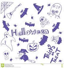 halloween characters doodle art stock vector image 71203724