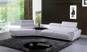 Modern Leather Sectional Sofa Divani Casa Raizel Modern White Leather Sectional Sofa W Left